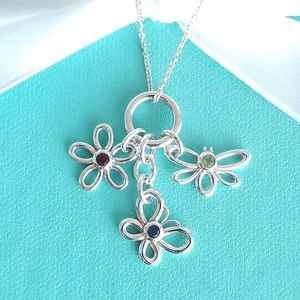 Tiffany & Co. Jewelry - Dragonfly, Butterfly and Flower necklace